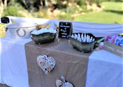 Stonehenge Wedding Decor Table